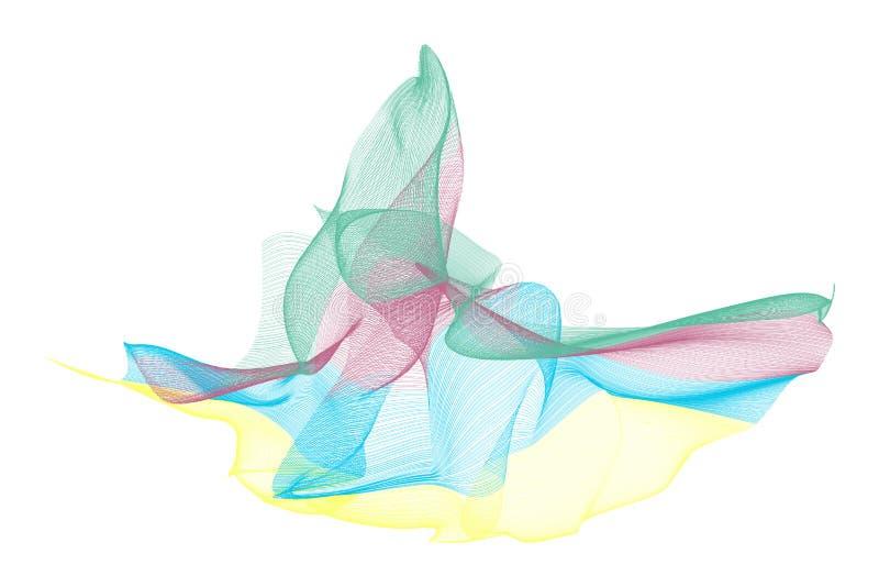 Abstrakte Illustrationen der rauchigen Linie Kunst, begrifflich Generativ, digital, Details u. Design lizenzfreie abbildung