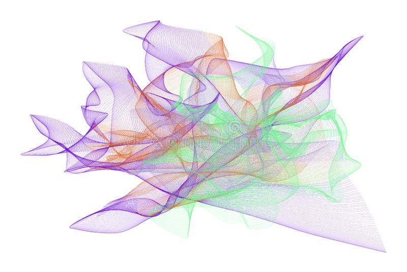 Abstrakte Illustrationen der rauchigen Linie Kunst, begrifflich Kreativ, grafisch, generativ u. Tapete vektor abbildung