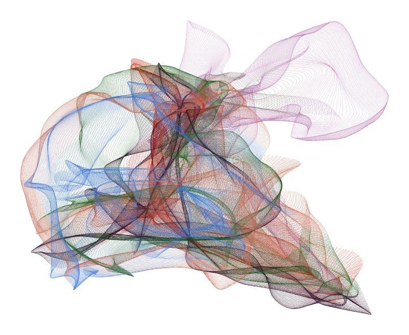 Abstrakte Illustrationen der rauchigen Linie Kunst, begrifflich Kurve, Runde, Grafik u. vektor abbildung