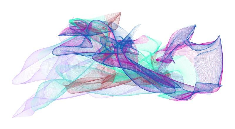 Abstrakte Illustrationen der rauchigen Linie Kunst, begrifflich Tapete, Runde, Schablone u. Vektor stock abbildung