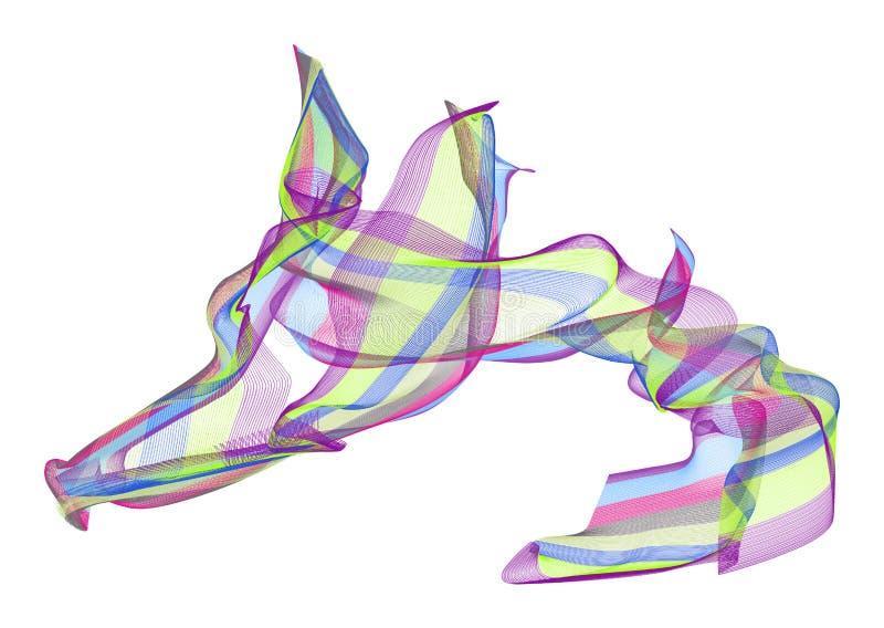 Abstrakte Illustrationen der rauchigen Linie Kunst, begrifflich Unordentlich, weich, Farbe u. Beschaffenheit stock abbildung