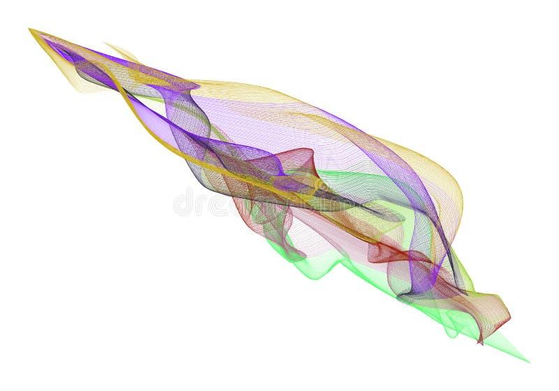 Abstrakte Illustrationen der rauchigen Linie Kunst, begrifflich Zeichnung, Oberfläche, Hintergrund u. Kurve lizenzfreie abbildung