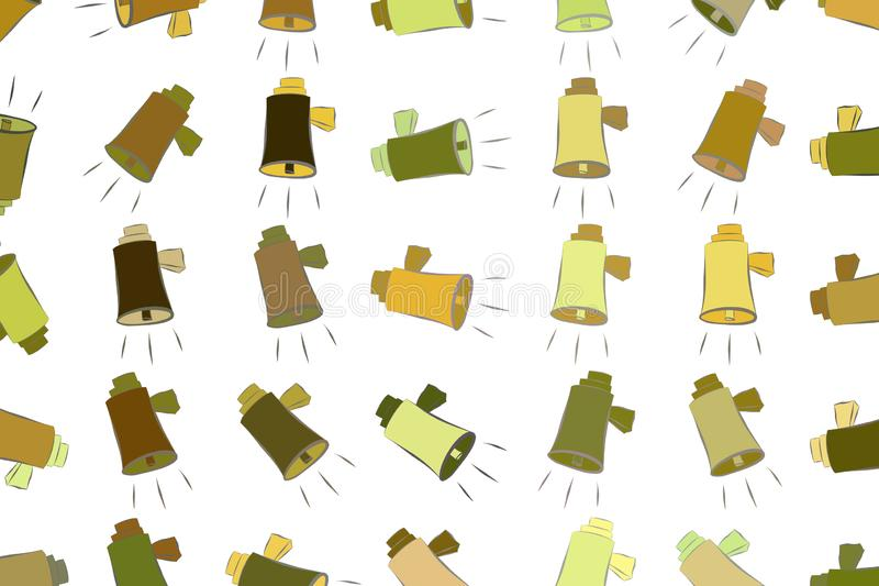 Abstrakte Illustrationen des Lautsprechers, begrifflich Details, Tapete, Satz u. Segeltuch lizenzfreie abbildung
