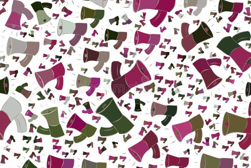 Abstrakte Illustrationen des Lautsprechers, begrifflich Effekt, Muster, Form u. Vektor vektor abbildung