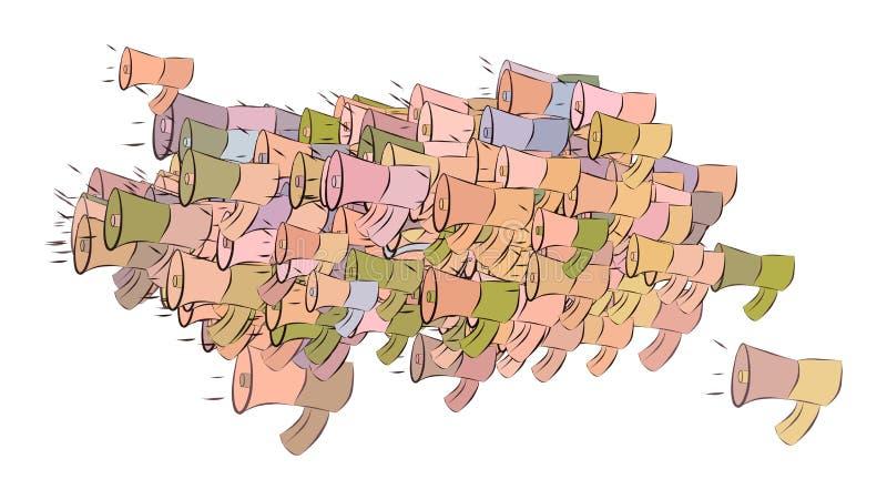 Abstrakte Illustrationen des Lautsprechers, begrifflich Effekt, Oberfläche, Muster u. Tapete stock abbildung
