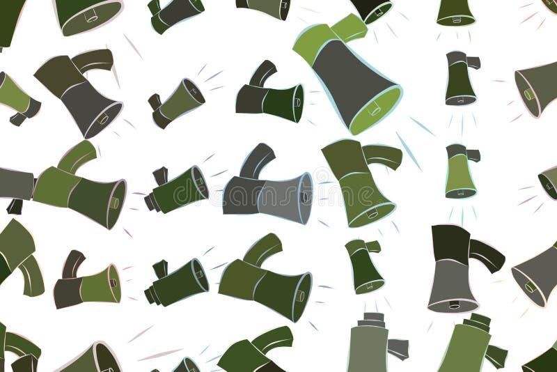 Abstrakte Illustrationen des Lautsprechers, begrifflich Linie, Segeltuch, Zeichnung u. Form stock abbildung