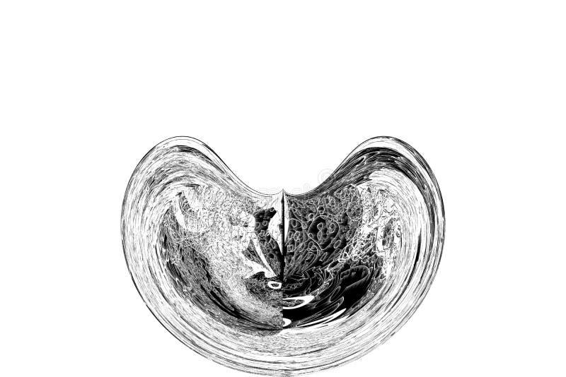 Abstrakte Illustrationen des Schmutz-, rauem oder Retro-Kreises oder Kugelförmig, begrifflich Beschaffenheit, Design, Wiederholun vektor abbildung