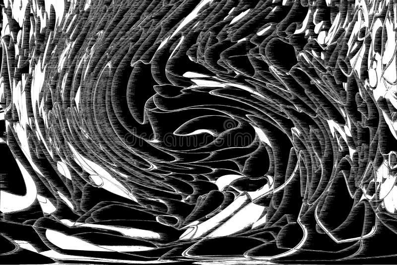 Abstrakte Illustrationen Schwarzweiss-B&W-Schmutzes, rau oder Retro-, begrifflich Zeichnen, schmutzig, Details u. Kunst stock abbildung