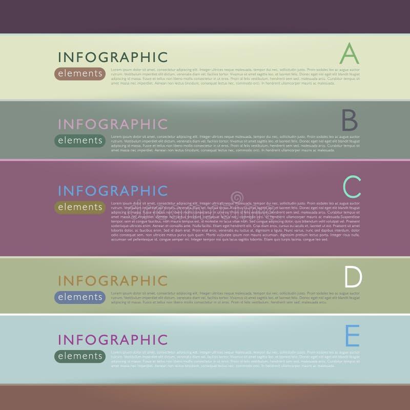 Abstrakte infographic Papierelemente 3d stock abbildung