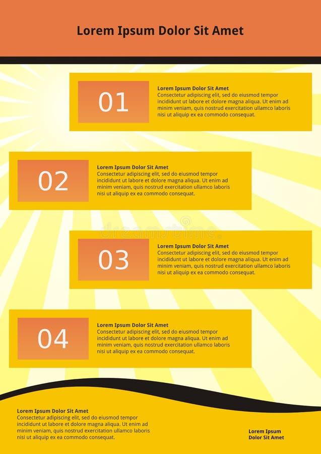 Abstrakte infographic Schablone lizenzfreie abbildung