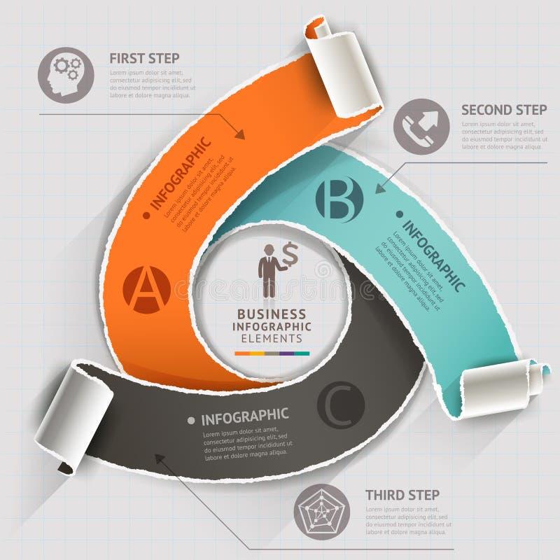 Abstrakte infographics Schablone heftige Papierart lizenzfreie abbildung