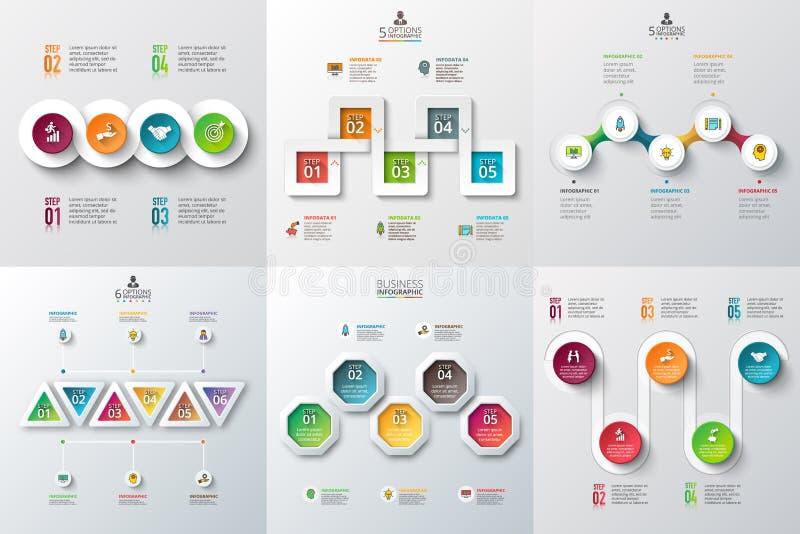 Abstrakte infographics Zahl-Wahlschablone lizenzfreie abbildung