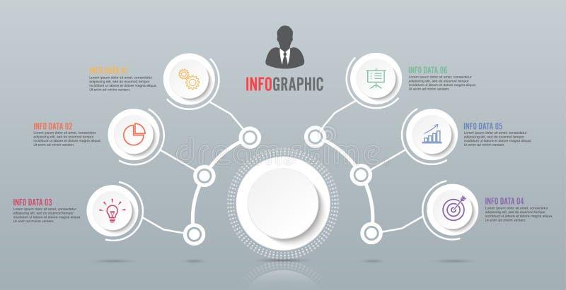 Abstrakte infographics Zahl-Wahlschablone Auch im corel abgehobenen Betrag kann für Arbeitsflussplan, Diagramm, Geschäftsschrittw lizenzfreie abbildung