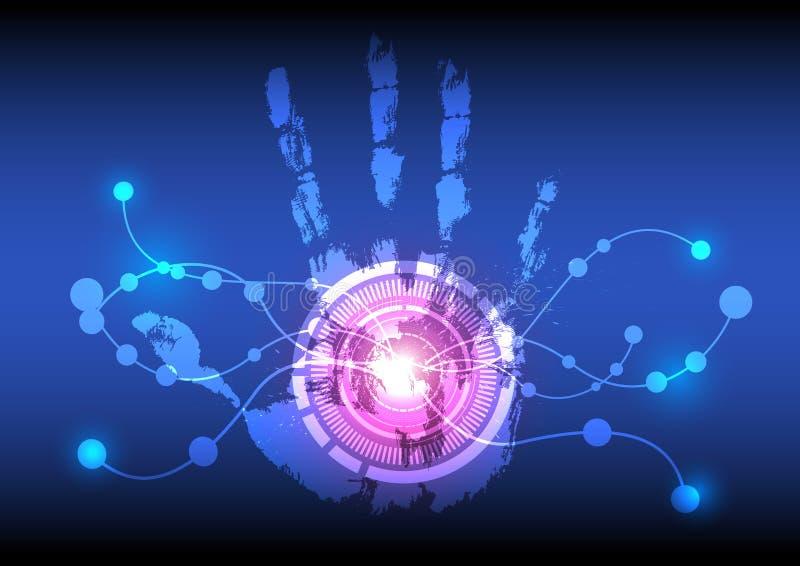 Abstrakte Innovationstechnologie lizenzfreie abbildung