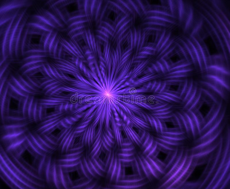 Abstrakte intergalaktische Erforschungssupernova des Raum- oder Zeitreisekonzepthintergrundes Impuls von Energie Feuerplasma grap stock abbildung