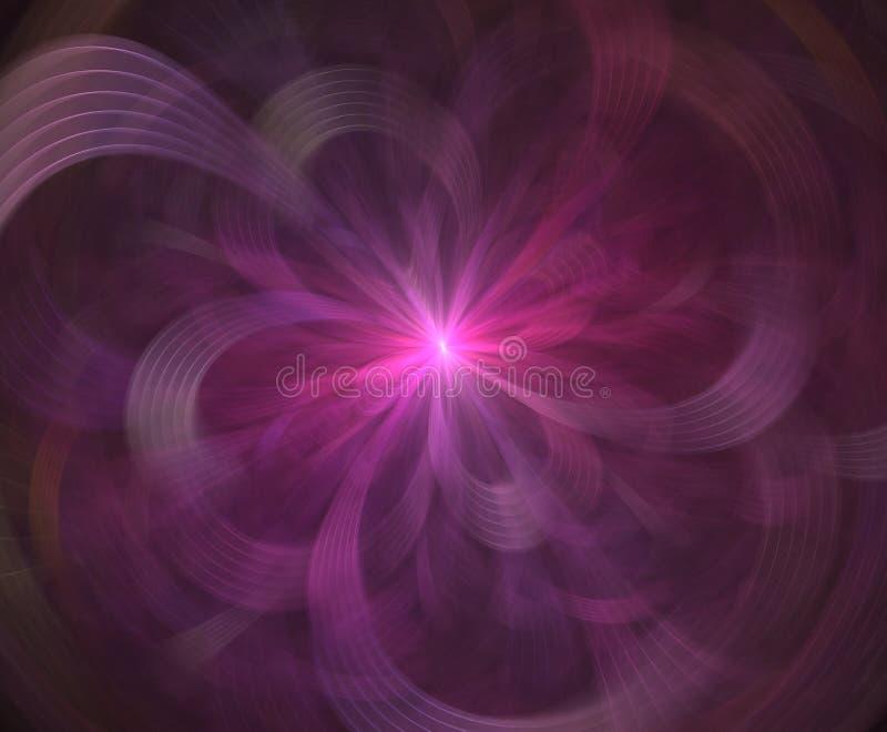 Abstrakte intergalaktische Erforschungssupernova des Raum- oder Zeitreisekonzepthintergrundes Impuls von Energie Feuerplasma grap lizenzfreie abbildung
