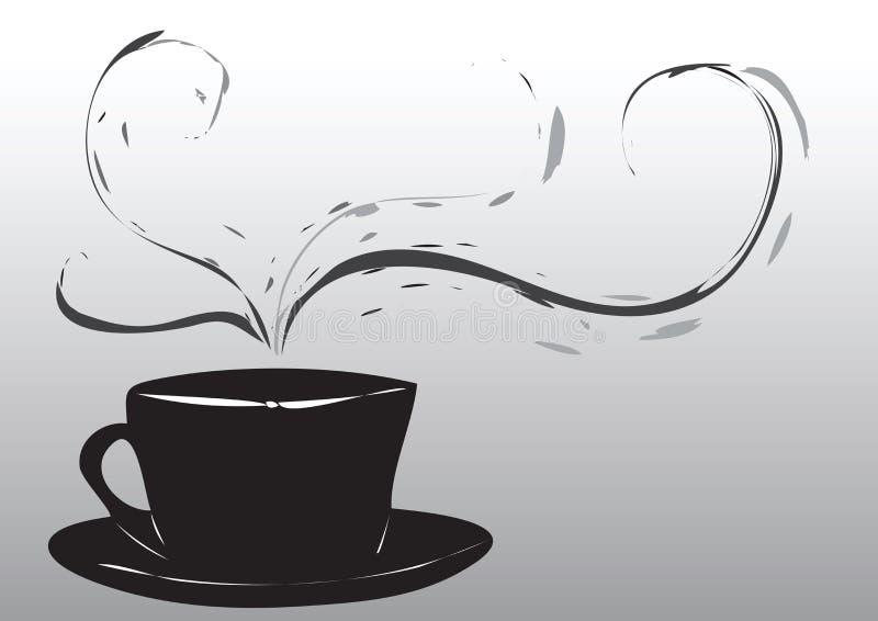 Abstrakte Kaffeetasse stock abbildung
