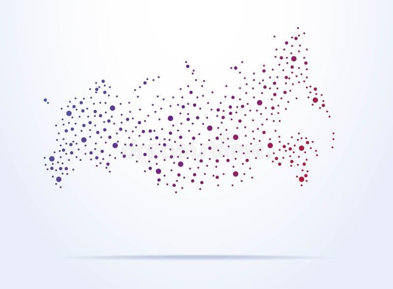 Abstrakte Karte von Russland stock abbildung