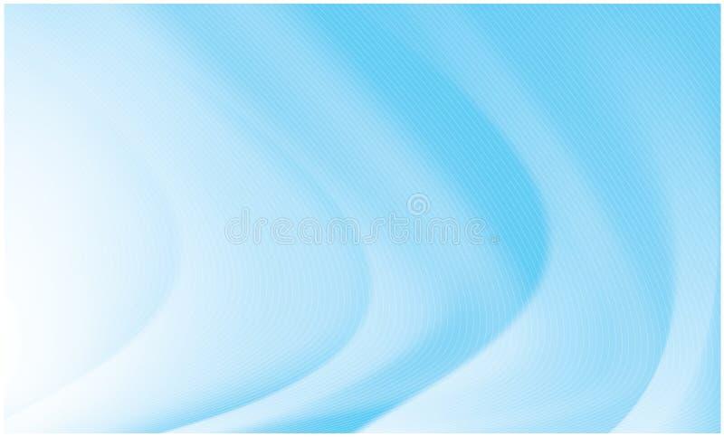 Abstrakte klare Wellen und Flüsse lizenzfreie abbildung