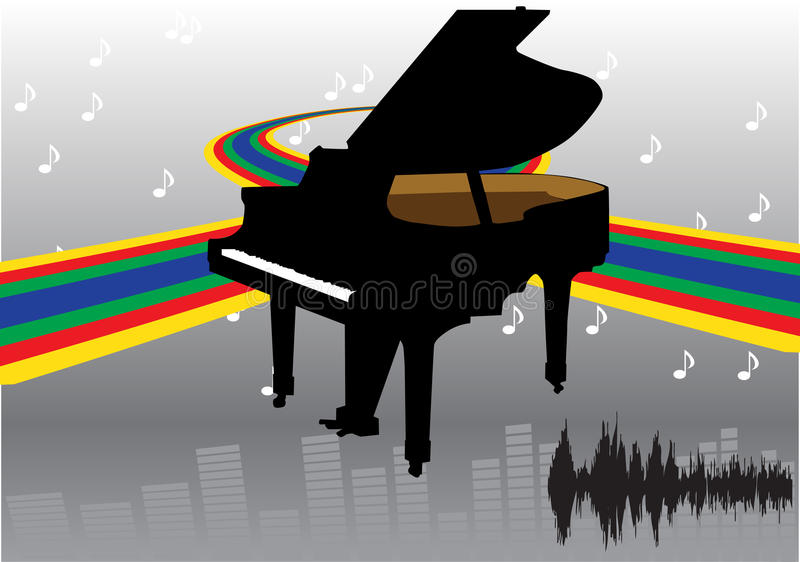 Abstrakte Klavierauslegung vektor abbildung
