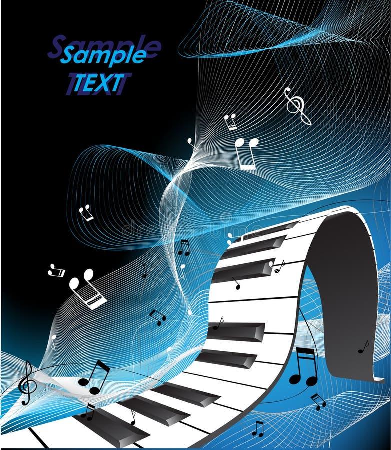 Abstrakte Klaviertastatur stock abbildung