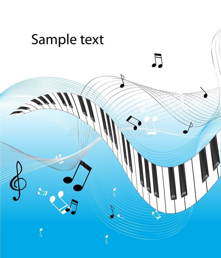 abstrakte Klaviertastatur vektor abbildung