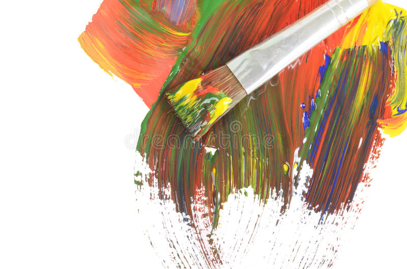 Abstrakte Kleksfarbenlacke lizenzfreie stockfotografie