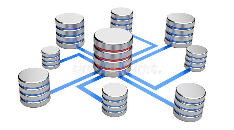 Abstrakte Kommunikationen, Datenbankkonzept lizenzfreie abbildung