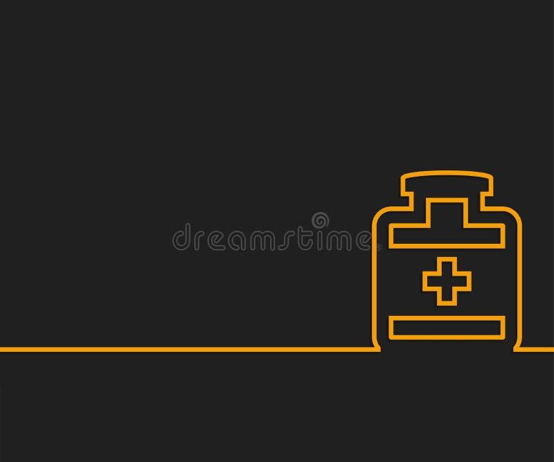 Abstrakte kreative Konzeptlinie Hintergrund des abgehobenen Betrages für Netz, mobiler App, Illustrationsschablonenentwurf, Gesch lizenzfreie abbildung