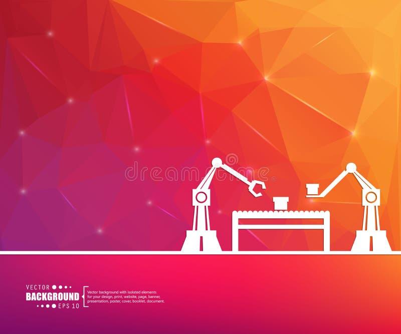Abstrakte kreative Konzeptvektorlinie Hintergrund des abgehobenen Betrages für Netz, bewegliche APP, Illustrationsschablonendesig lizenzfreie abbildung