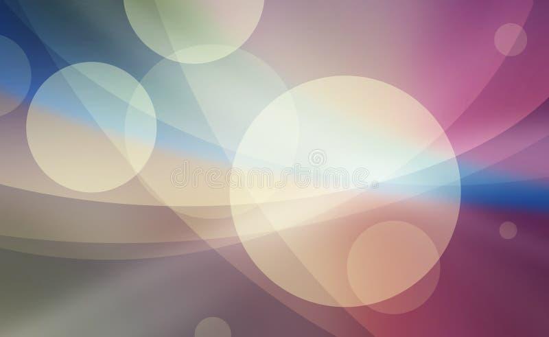 Abstrakte Kreise überlagert im gelegentlichen Design stock abbildung
