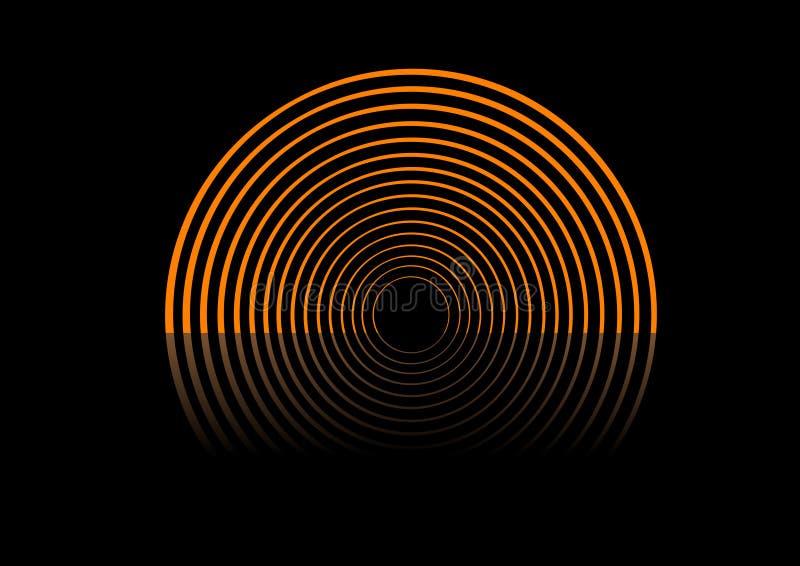 Abstrakte Kreise auf der Stufe. lizenzfreie abbildung