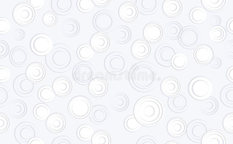 Abstrakte Kreise auf lokalisiertem blauem Hintergrund nahtloser Hintergrund mit geometrischen Formen, Elemente Zusammensetzung fü stock abbildung