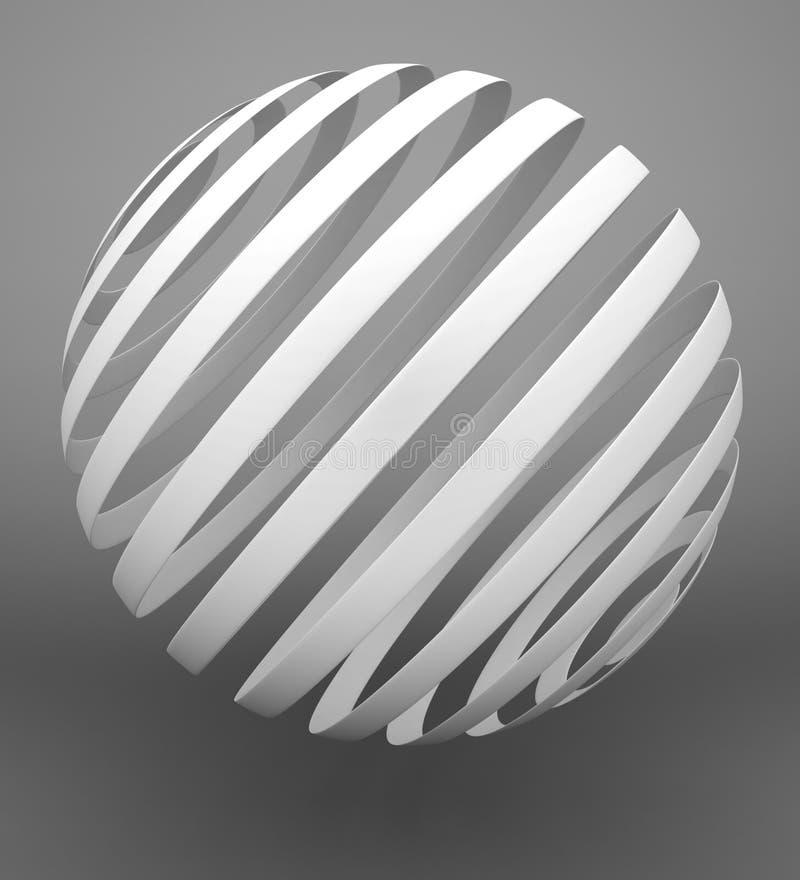 Abstrakte Kugel stock abbildung