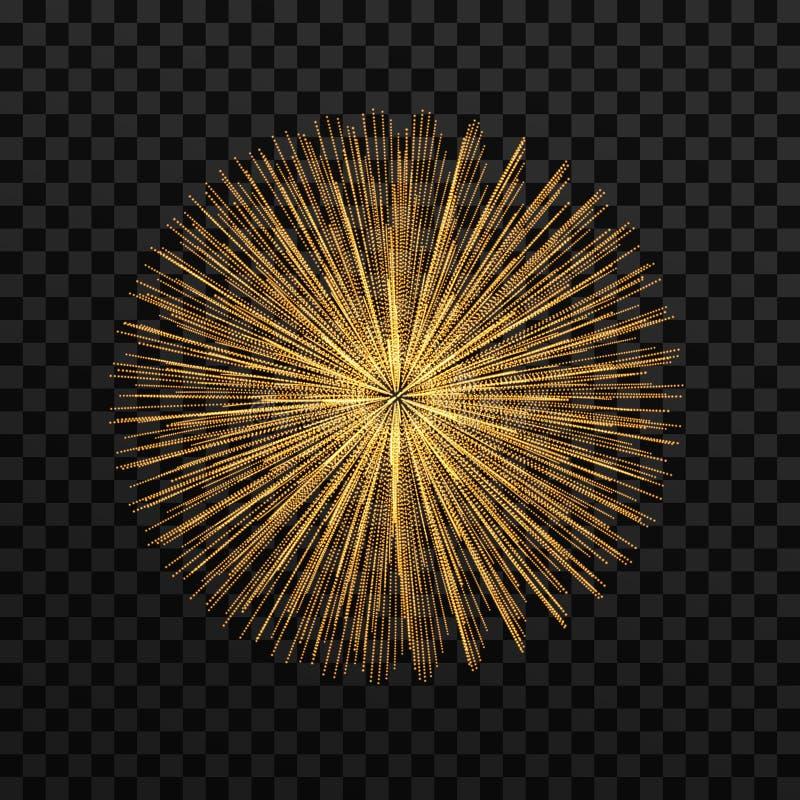 abstrakte Kugel 3d Reihe mit dynamischen Partikeln Modernes Wissenschaft und Technik-Element Auch im corel abgehobenen Betrag vektor abbildung