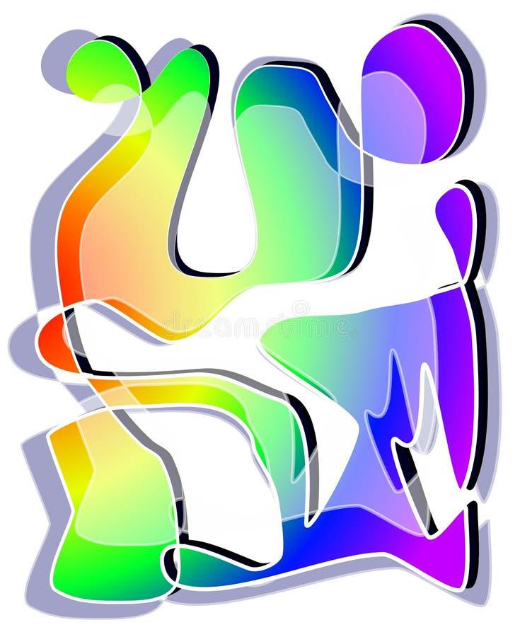 Abstrakte Kunst färbt Muster stock abbildung