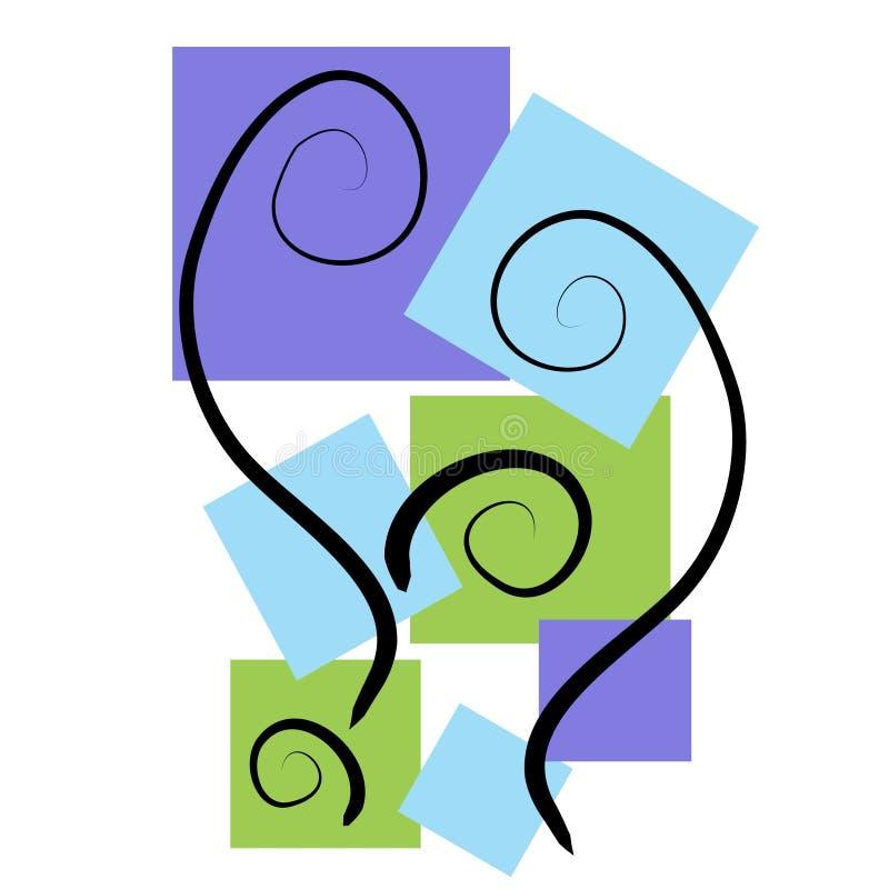 Abstrakte Kunst-Hintergründe blau lizenzfreie abbildung