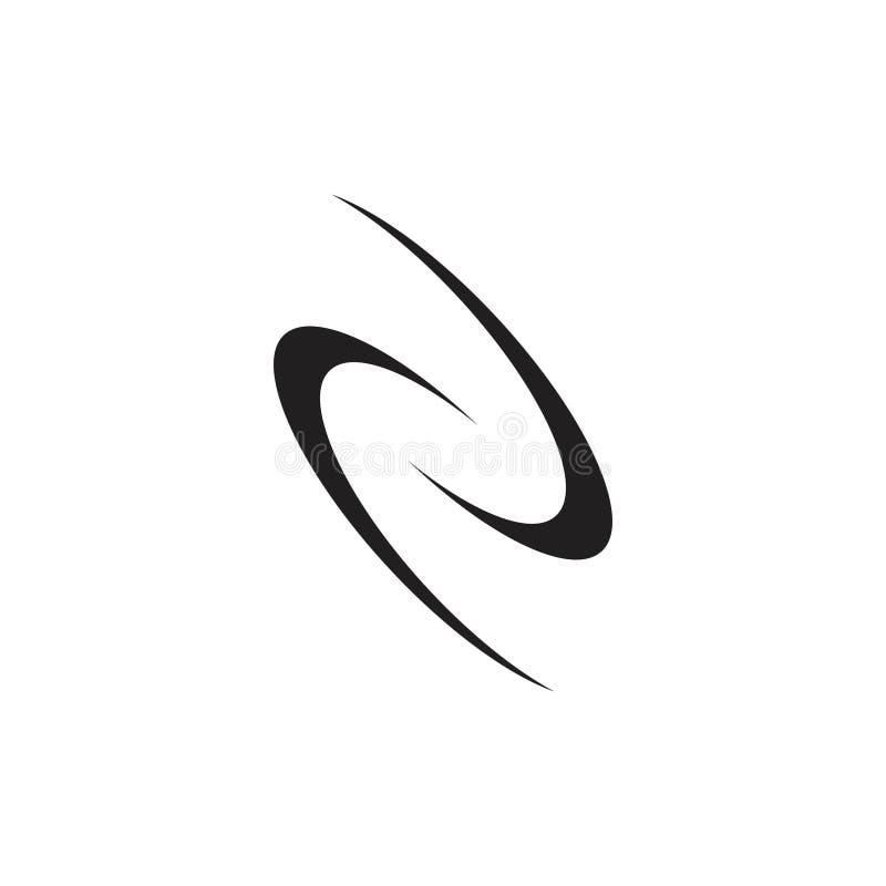Abstrakte Kurven winken Kreislogovektor zu stock abbildung