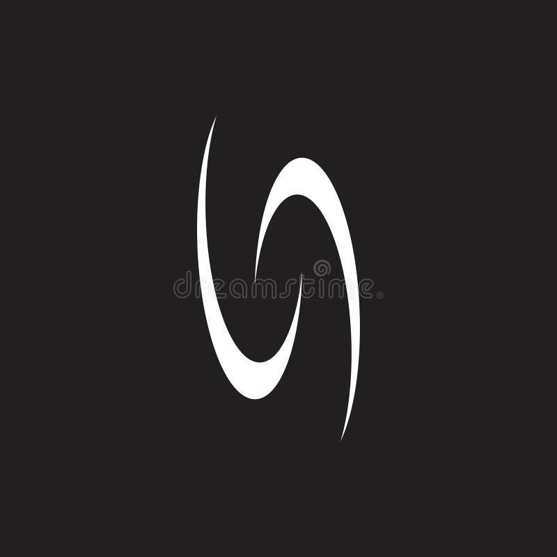 Abstrakte Kurven winken Kreislogovektor zu lizenzfreie abbildung