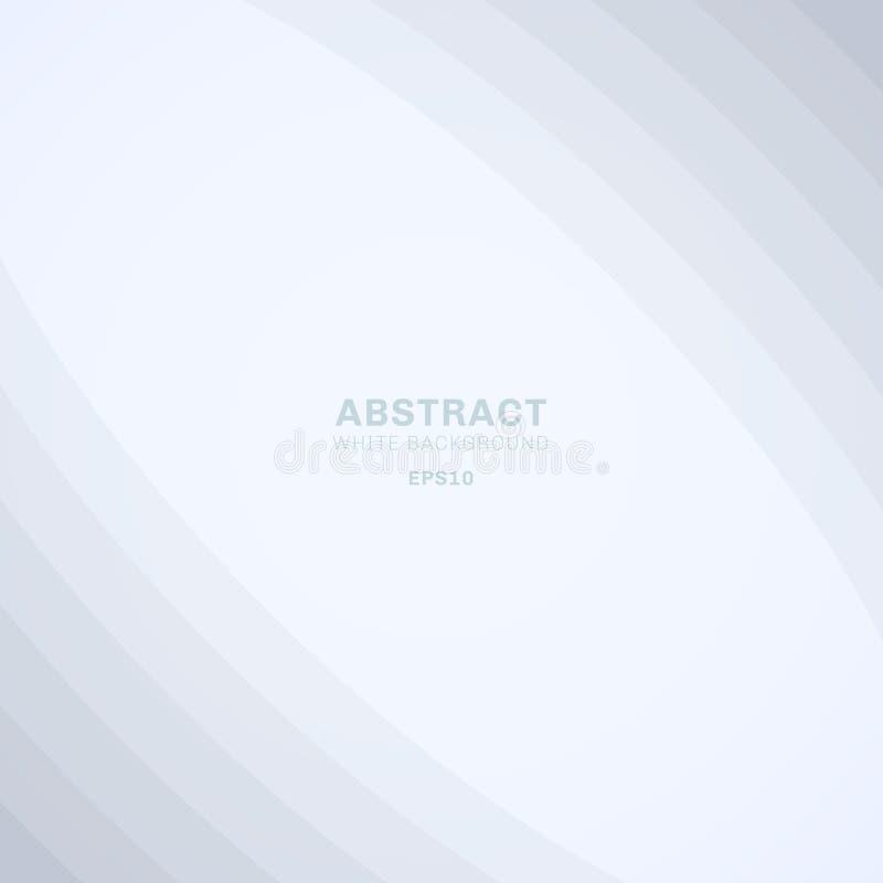 Abstrakte Kurvenlinien überlagern weißen Hintergrund des eleganten Geschäfts mit Raum für Ihren Text vektor abbildung