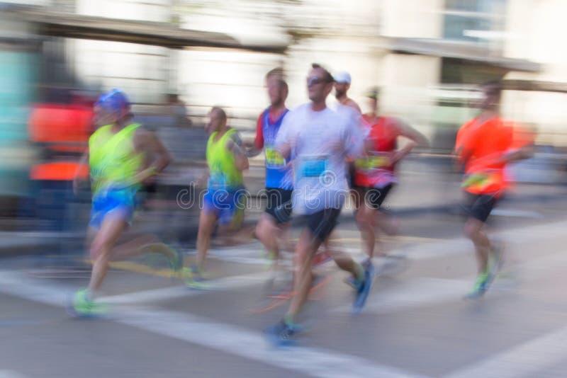 Abstrakte Läufer mit Unschärfe lizenzfreie stockbilder