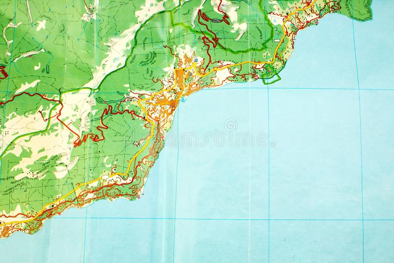 Abstrakte Landkarte ohne Namen Symbol der Reiseplanung Beschneidungspfad eingeschlossen lizenzfreie stockfotografie