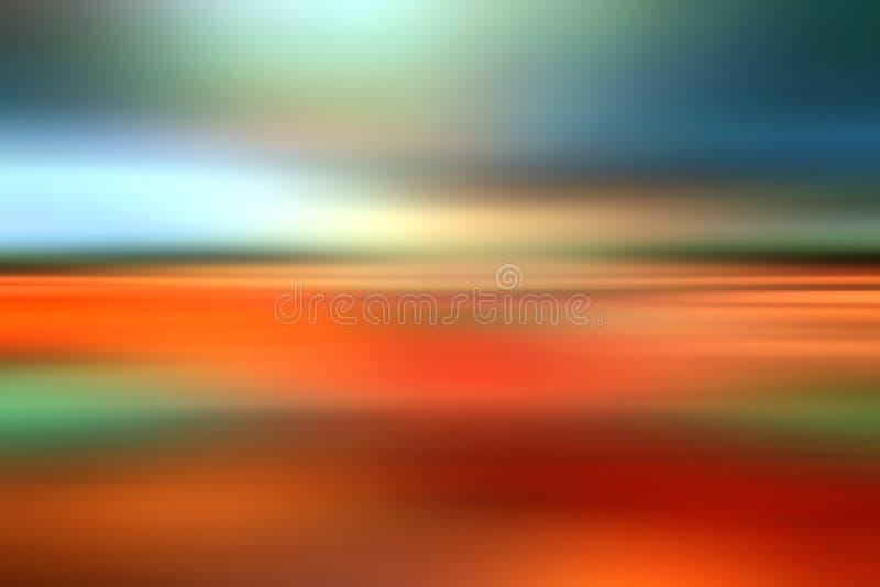 Abstrakte Landschaftsunschärfenfarben stock abbildung