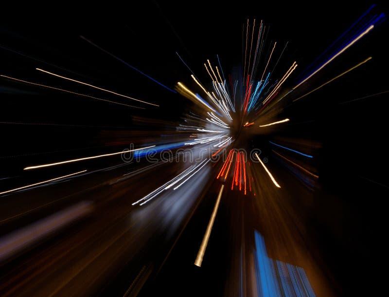 Abstrakte Leuchten und Drehzahl lizenzfreies stockbild