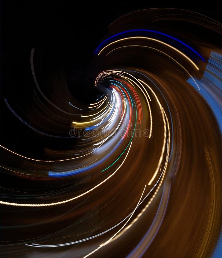 Abstrakte Leuchten und Drehzahlaufbau lizenzfreie stockfotografie