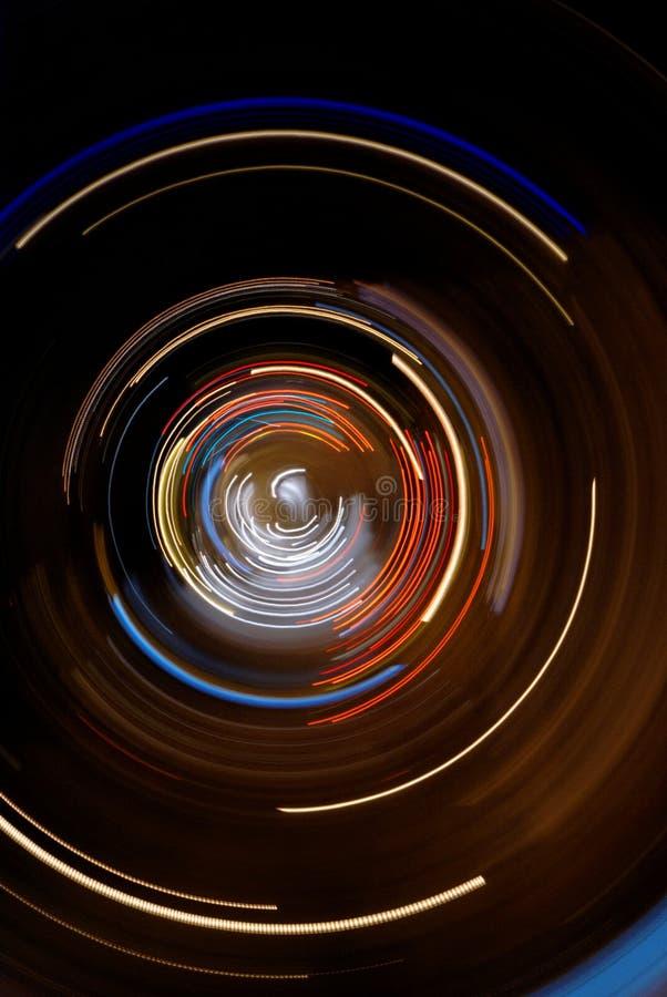 Abstrakte Leuchten und Drehzahlaufbau lizenzfreie stockbilder