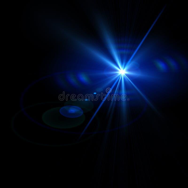 Abstrakte Lichter über schwarzen Hintergründen stockfoto