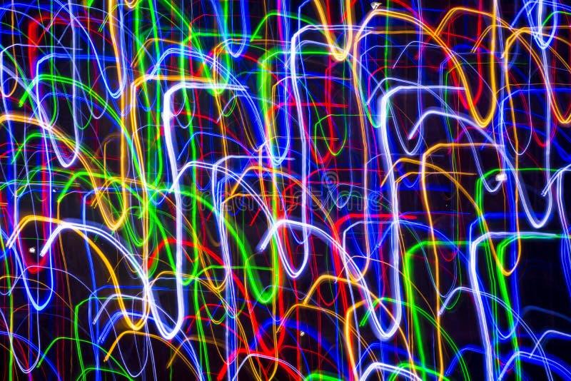 Abstrakte Lichter im Bewegungshintergrund stock abbildung