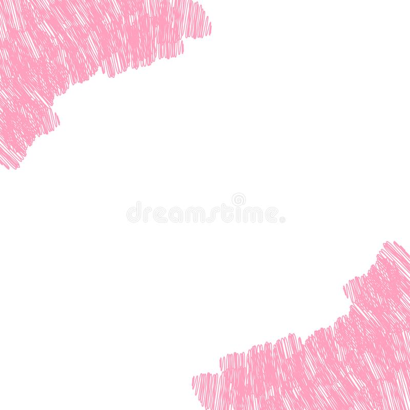 Abstrakte Liebe für Ihr Valentinsgruß-Tagesgruß-Kartendesign Rosa Herzrahmen lokalisiert auf weißem Hintergrund vektor abbildung