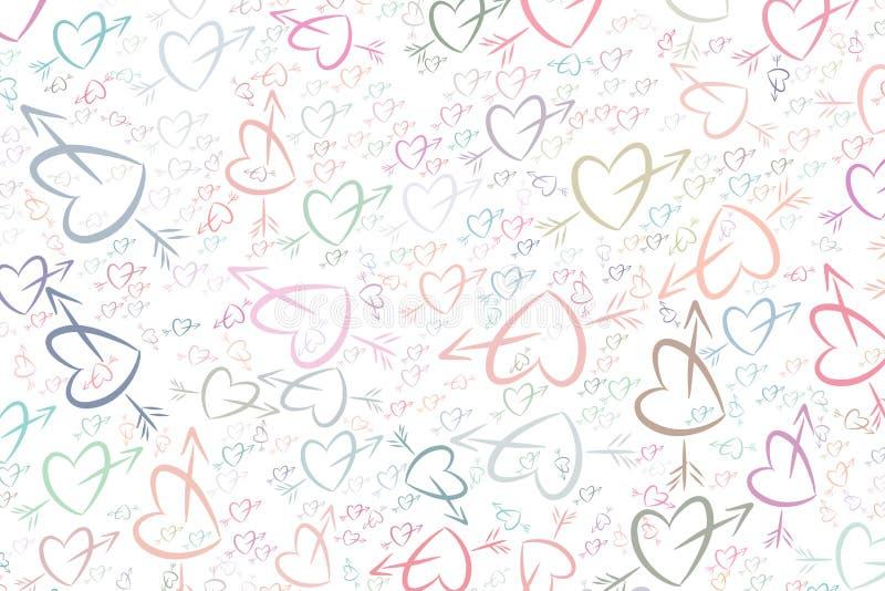Abstrakte Liebe für Valentinstag-, Feier- oder Jahrestagsillustrationshintergrund Bündel, Kunst, Glückwunsch u. Hintergrund vektor abbildung